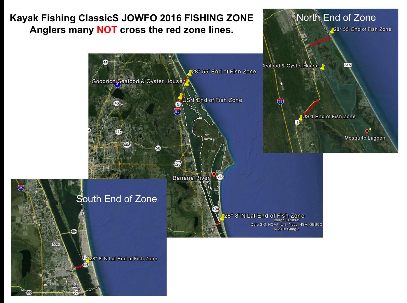 Kayak Fishing ClassicS Championship Classic - Fishing Zones