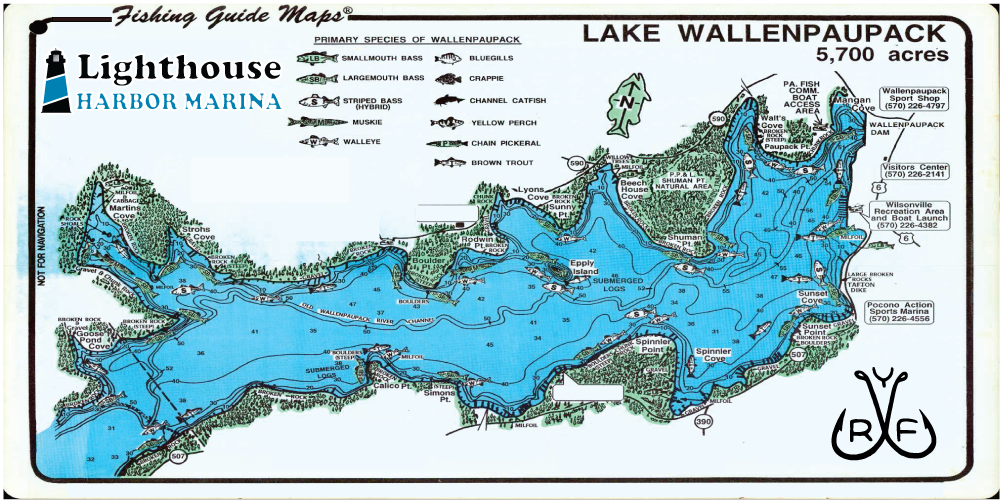 Lake Wallenpaupack Map